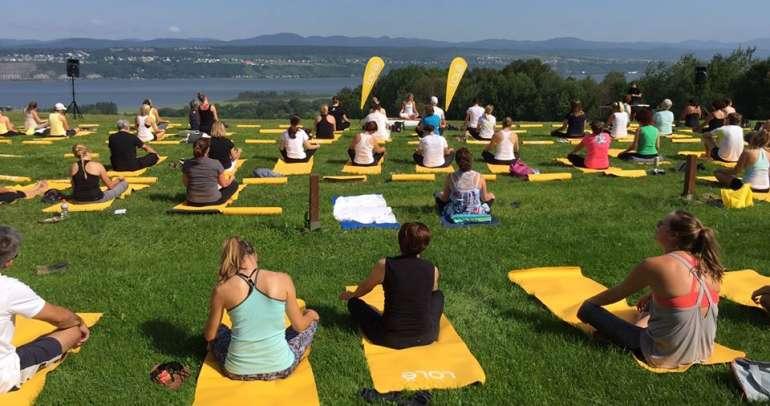 Yoga au Domaine Orléans août 2015 et juin 2016